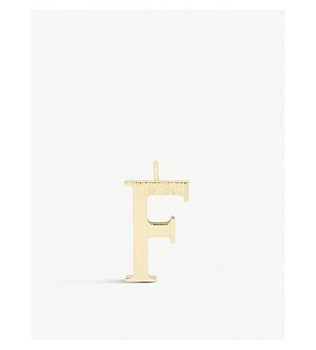 CHLOE 字母 F 吊坠 (金色