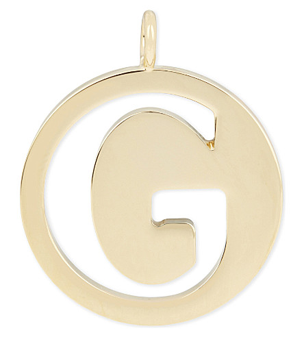 CHLOE Alphabet G pendant (Gold