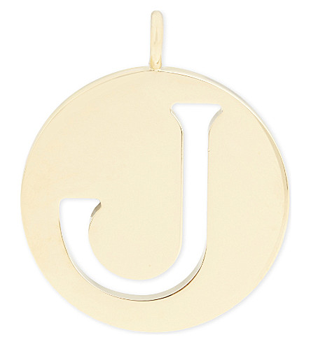 CHLOE Alphabet J pendant (Gold