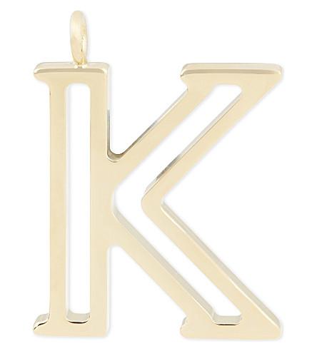 CHLOE Alphabet K pendant (Gold