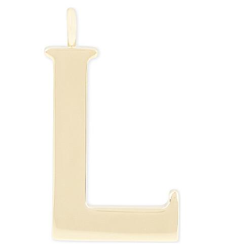 CHLOE Alphabet L pendant (Gold
