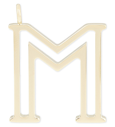 CHLOE Alphabet M pendant (Gold