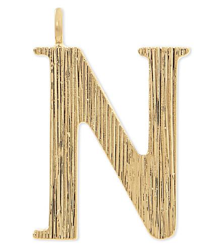 CHLOE Alphabet N pendant (Gold
