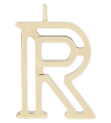 CHLOE Alphabet R pendant (Gold