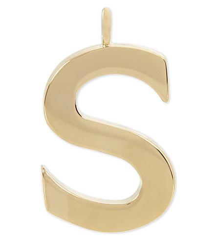 CHLOE Alphabet S pendant (Gold