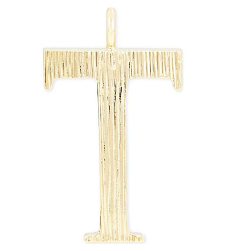 CHLOE Alphabet T pendant (Gold