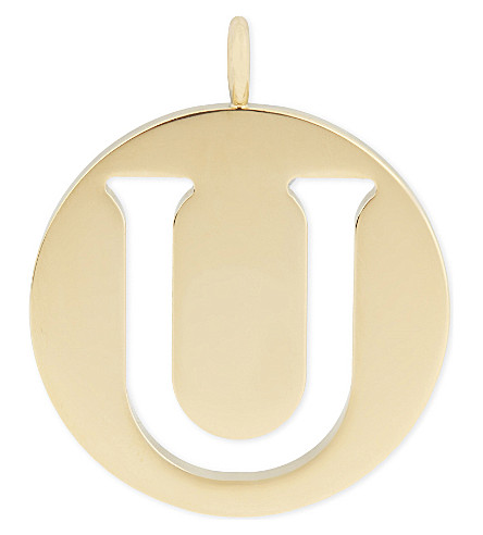CHLOE Alphabet U pendant (Gold
