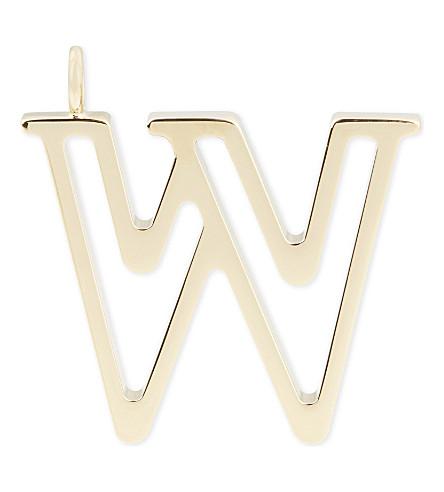 CHLOE Alphabet W pendant (Gold