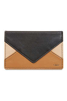 CHLOE Patchwork card holder