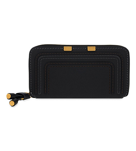CHLOE Marcie long zipper-around wallet (Black