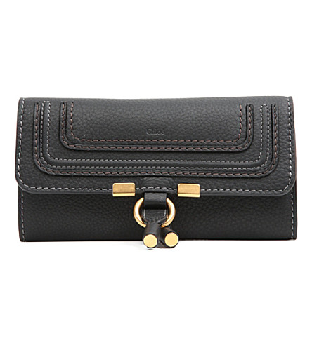 CHLOE Marcie leather wallet (Black