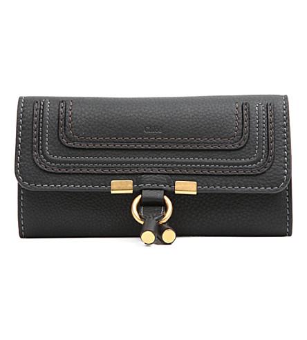 CHLOE 马西皮革钱包 (黑色