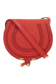 CHLOE Red marcie small round cross body bag