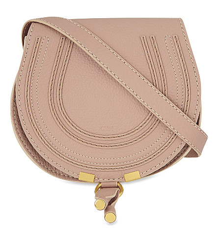 CHLOE Marcie leather cross-body bag (Anemone+pink