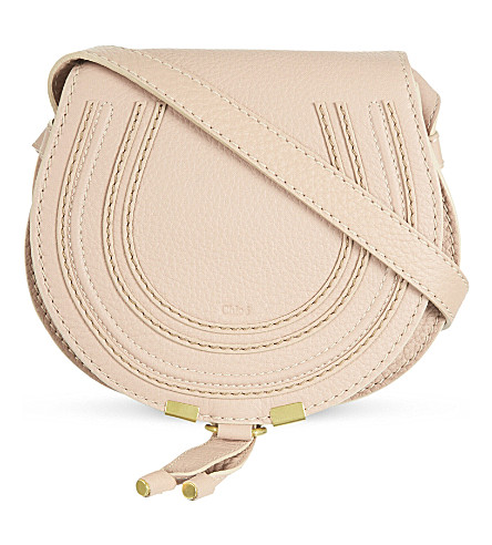 CHLOE Marcie leather cross-body bag (Blush+nude