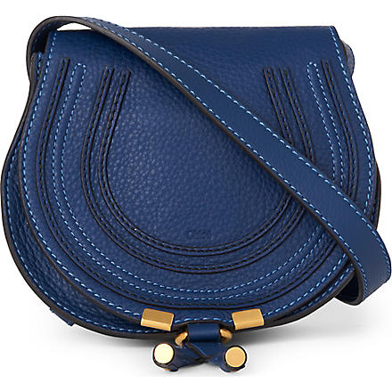 CHLOE Marcie small saddle bag (Royal