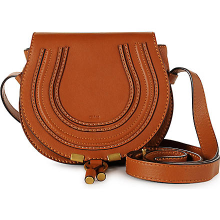 CHLOE Marcie small saddle bag (Tan