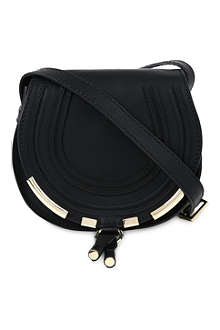 CHLOE Marcie metal-detailed leather cross-body bag