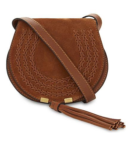 CHLOE Marcie small suede satchel (Caramel