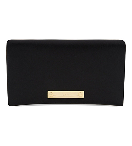 CHLOE Fold over wallet with pouch (Black