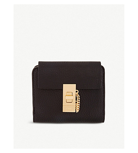 CHLOE Drew square leather purse (Black