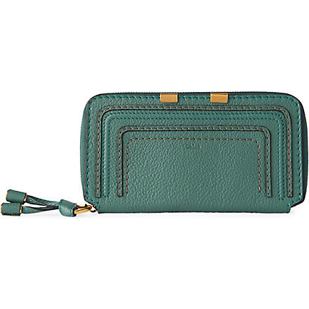 CHLOE Marcie zip around wallet (Eucalyptus