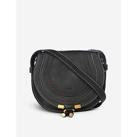 CHLOE Marcie small saddle bag (Black
