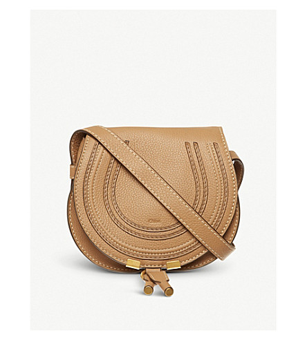 CHLOE Marcie small saddle bag (Nut