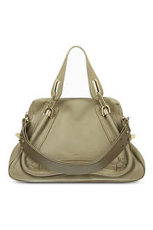 CHLOE Paraty military leather satchel