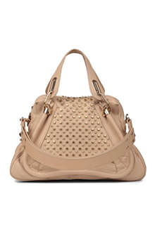 CHLOE Paraty Military medium studded leather shoulder bag