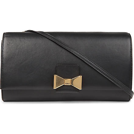 CHLOE Bobbie leather clutch (Black