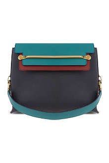 CHLOE Clare grainy leather shoulder bag