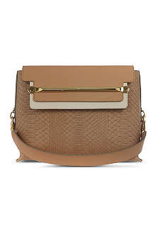 CHLOE Clare mock-snake leather shoulder bag