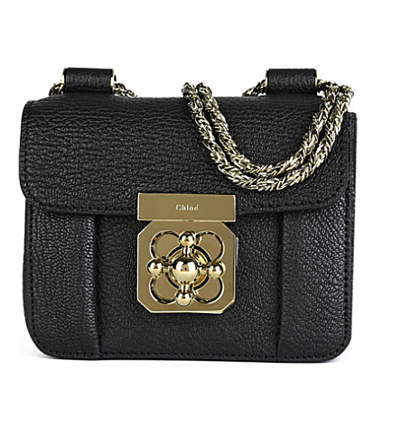 CHLOE Elsie small leather shoulder bag (Black