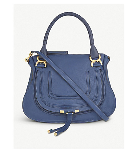 CHLOE Marcie medium leather tote (Navy