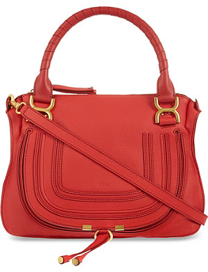 CHLOE Red Marcie cross body bag