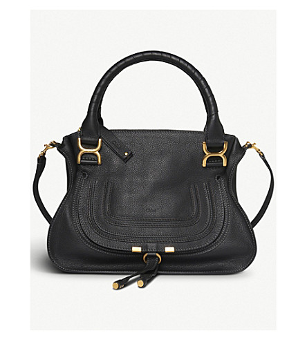 CHLOE Marcie small leather shoulder bag (Black