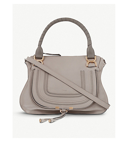 CHLOE Marcie medium leather cross-body bag (Cashmere+grey