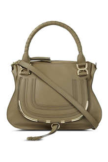 CHLOE Marcie metal leather satchel