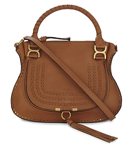 CHLOE Marcie leather tote (Nr247 caramel