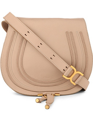 CHLOE Marcie pebbled-leather satchel
