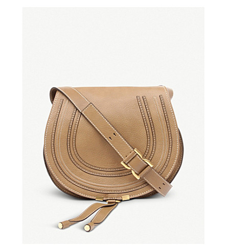 CHLOE Marcie leather cross-body bag (Nut