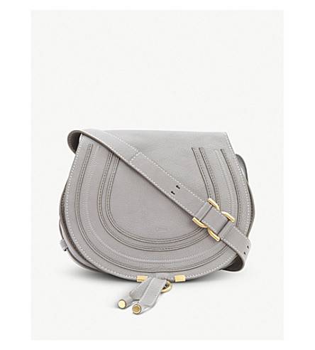 CHLOE Marcie leather satchel (Cashmere+grey