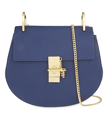 CHLOE Drew saddle cross-body bag (Navy