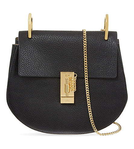 CHLOE Drew small leather cross-body bag (Black