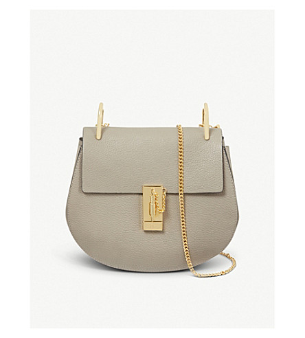 CHLOE Drew small leather cross-body bag (Motty grey