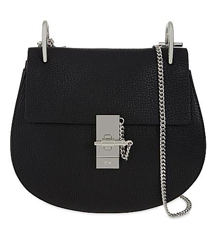 CHLOE Drew small grained leather cross-body bag (Black