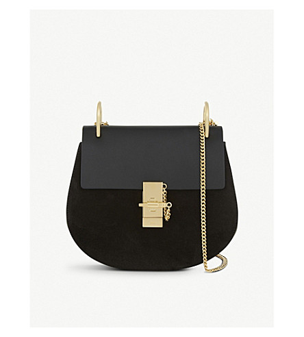 CHLOE Drew small saddle cross-body bag (Black