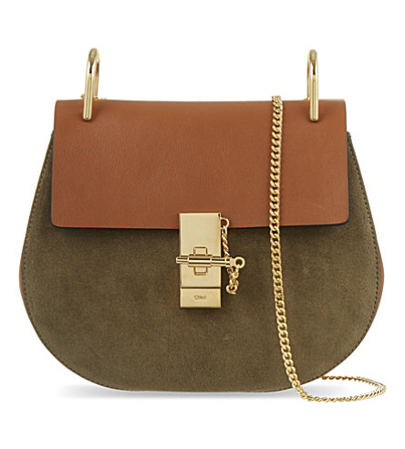 CHLOE Drew small saddle cross-body bag (Caramel