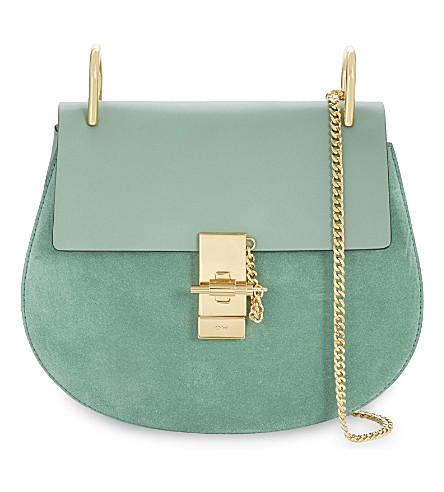 CHLOE Drew small saddle cross-body bag (Happy green